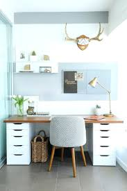 office design small home office with gray and white striped wall