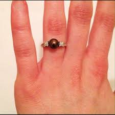zales black friday 60 off zales jewelry black pearl and diamond ring w pearl set