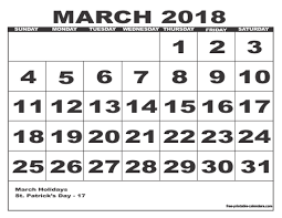 2018 calendar style 6 free printable calendars