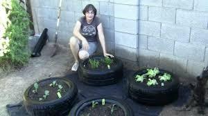 Make A Vegetable Garden by How To Make A Tire Garden Youtube