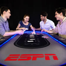 10 player poker table espn 10 player premium poker table with in laid led lights no