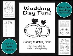 wedding coloring u0026 activity book brides wedding