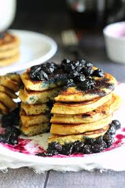 cuisine paleo paleo blueberry pancakes with maple blueberry compote