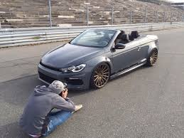 volkswagen scirocco r modified volkswagen eos with scirocco front and r36 engine coming to
