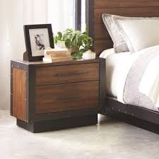 scott living ellison industrial nightstand with usb ports