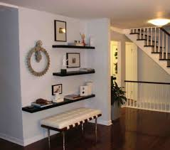Functional Entryway Ideas Simple Functional And Space Saving Floating Wall Shelving Ideas
