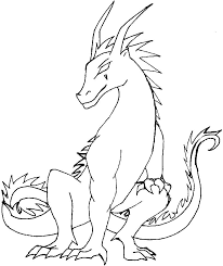 fire breathing dragon coloring page eson me