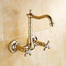 montage d un robinet de cuisine en gros au dé or couleur montage mural salle de bains robinet