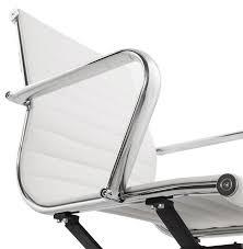 Chaise De Bureau Design Giga En Similicuir Blanc Fauteuil De Bureau Chaise De Bureau