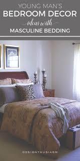 young man u0027s bedroom decor ideas masculine bedding bachelor pad