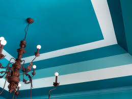 How To Paint High Walls by Paint A Bold Color On Your Ceiling Hgtv