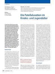 G Stige K Hen Online Die Patellaluxation Im Kindes Und Jugendalter Pdf Download