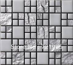 stainless steel mosaic tile backsplash 53 best kitchen backsplash ideas images on pinterest backsplash