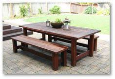 Build Your Own Picnic Table Plans by Farmhouse Picnic Table Plan Patio Dining Table Benches