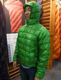 montbell alpine light down jacket highlights winter 2014 outdoor retailer trade show backpacking