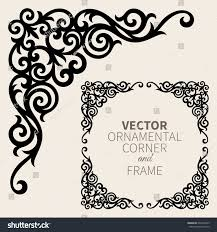 vector ornamental corner frame stock vector 607934225
