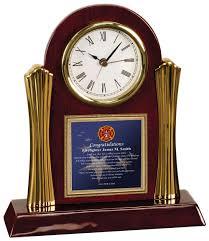 firefighter desk clock fireman academy graduation gift fire fighter