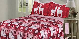 Duvet Covers And Quilts Amazon Com Christmas Quilt Bedspreads 3 Piece Set Bedspread