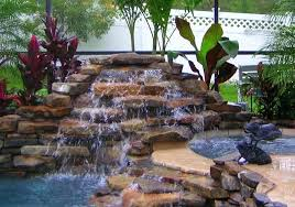 Waterfall Landscaping Ideas Pool Landscaping Ideas With Rocks Swimming Pool Landscaping Rocks