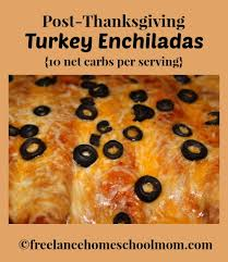 low ish carb turkey enchiladas