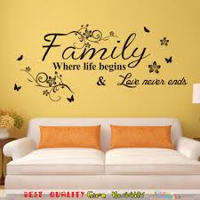 Bedroom Wall Art Words Compare Prices On Family Wall Decals Words Online Shopping Buy