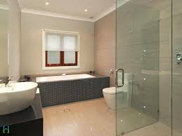 beige tile bathroom cladding wall mounted wooden vanity with