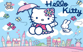 kitty blue pictures wallpaper cute wallpaper