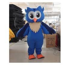 owl costume professional new style big blue owl mascot costume fancy dress