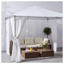 karlsö gazebo with curtains white 300x300 cm ikea