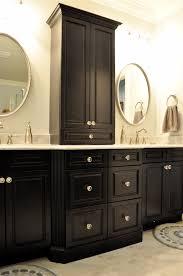 Bathroom Countertop Storage Bathroom Vanity Cool 40 Wonderful Black With White Knobs