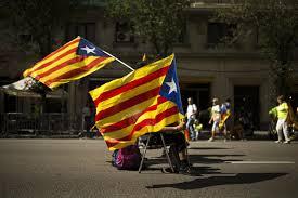 Barcelona Spain Flag Catalan Celebration Focuses On Right To Break From Spain Atlanta Ga