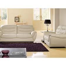 la maison du canapé fauteuil en cuir coral la maison du canapé pas cher à prix auchan