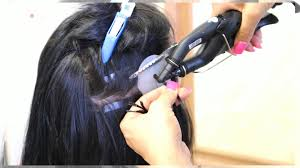 keratin bond hair extensions hair with keratin bond hair extensions application