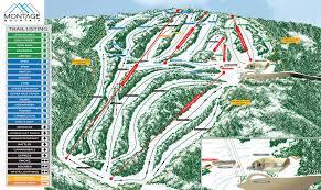 Mountain Map Skiing In The Poconos Trail Status Montage Mountain Snow Tubing