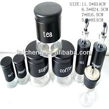 kitchen canister sets stainless steel black canister set image of vintage kitchen canister sets