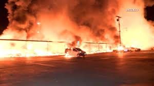 arson investigators examining site of massive newport beach fire