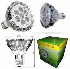best high power cree e27 led spotlight par30 21w 7x3w led light