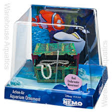 finding nemo air treasure chest aquarium ornament decor