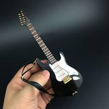 mini musical ornaments 1 6 scale black folk electric guitar model
