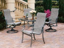 Tropitone Patio Furniture Covers - tropitone montreux sling aluminum dining set mtsds