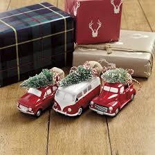 vintage car ornaments set of 3 ballard designs