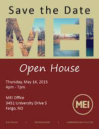 Save The Date Emails Save The Date Mei Open House May 14 Moorhead Electric
