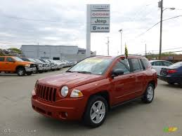 orange jeep compass 2010 sunburst orange pearl jeep compass sport 64034603 gtcarlot
