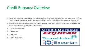 experian credit bureau credit bureaus in india