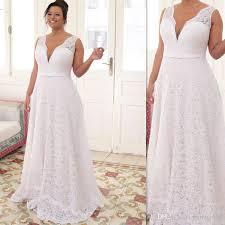 wedding dresses for larger brides plus size wedding dresses 2017 white lace v neck bridal