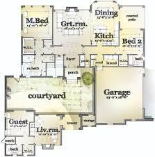 courtyard house plans with casita arts