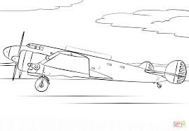 amelia earhart airplane coloring free printable coloring pages