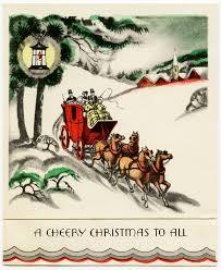 printable horse christmas cards horse drawn carriage christmas card old design shop blog