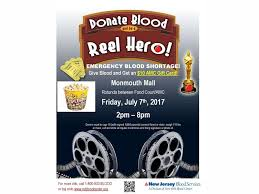 amc theatre gift card give blood at monmouth mall on july 7th get a 10 amc theatres
