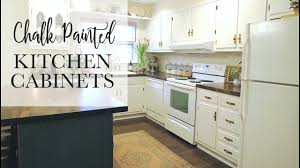 chalk paint kitchen cabinets images our 75 chalk paint cabinet transformation no sanding